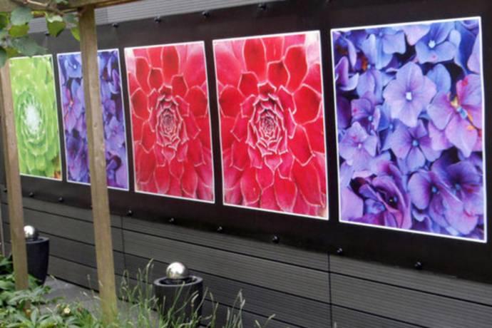 Meerdere fotos tuinposters